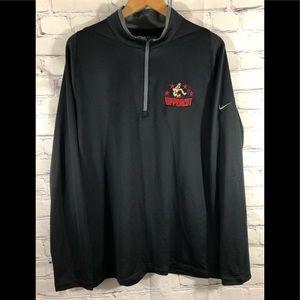 Nike Golf Dri Fit 1/4 Zip Pullover Long Sleeve Lg